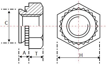 BOB六角压铆螺母