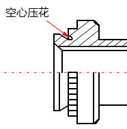 空心压花的防水螺柱